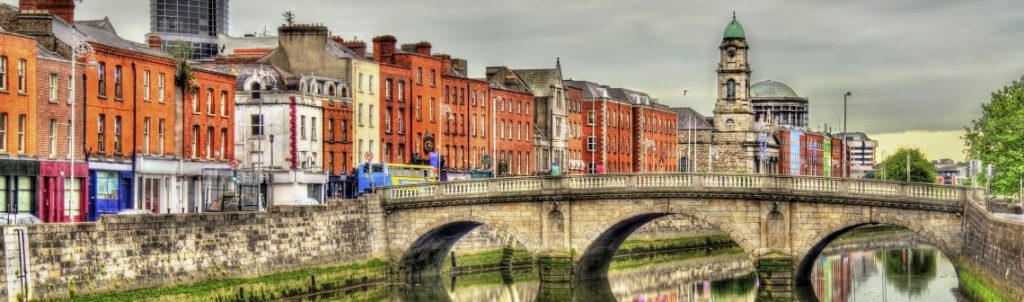 View of Mellows Bridge in Dublin - Ireland
